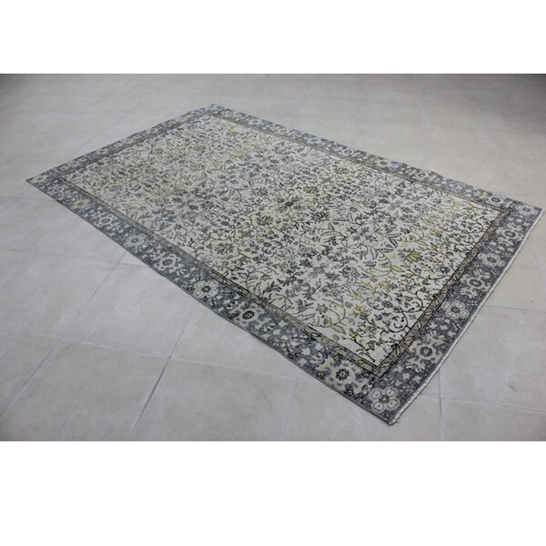 Vintage Hand-Knotted Gray/Beige Area Rug by Wildon Home ®
