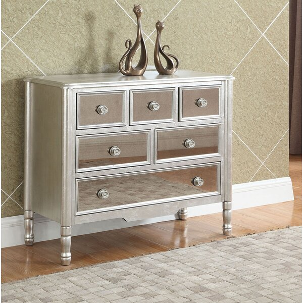 Agnew Console 6 Drawer Accent Cabinet by Rosdorf Park