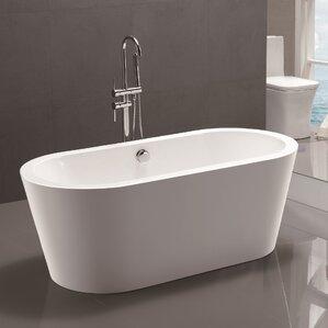 5 ft freestanding soaking tub. 59  x 29 5 Freestanding Soaking Bathtub Tubs