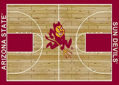 NCAA College Home Court Arizona State Novelty Rug by My Team by Milliken