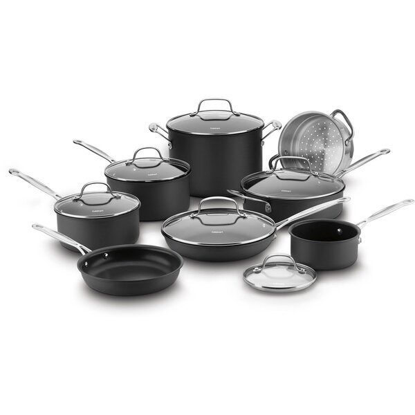 14 Piece Chefs Classic Hard Anodized Non-Stick Cookware Set by Cuisinart