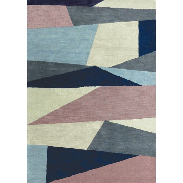 Christiana Shards of Glass Gray/Blue Area Rug by Brayden Studio