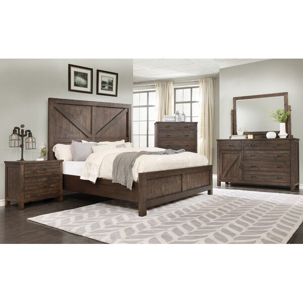 Arciniega Rustic Queen Panel 4 Piece Bedroom Set by Foundry Select