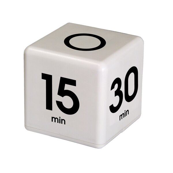 5-15-30-60 Minute Preset Cube Timer by Datexx