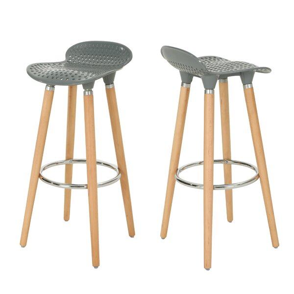 Richelle Perforated Tractor 29 Bar Stool (Set of 2) by Ebern Designs