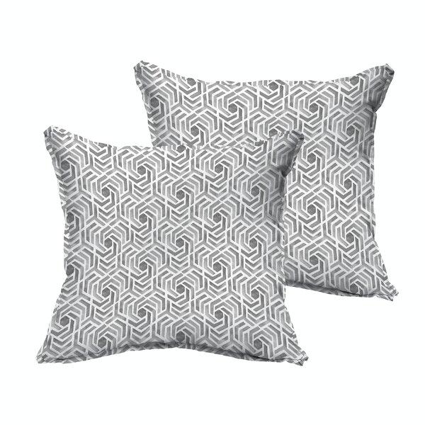 Brescia Indoor/Outdoor Throw Pillow (Set of 2) by Wrought Studio