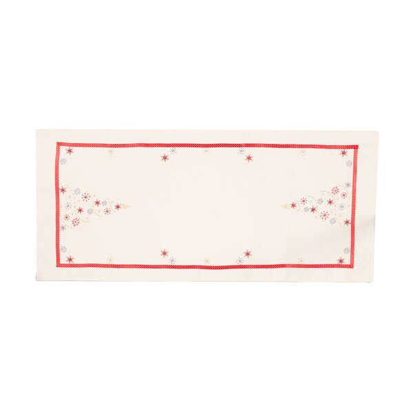 Sir Festive Christmas Tree Embroidered Table Runner by The Holiday Aisle