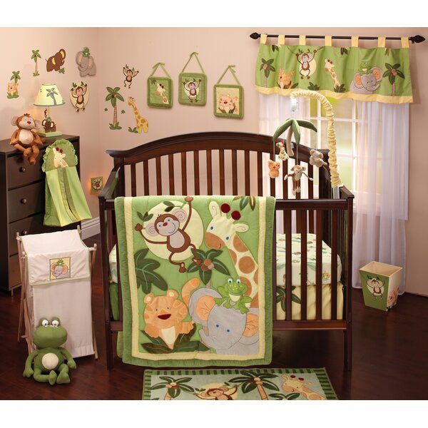 Jungle Babies 8 Piece Crib Bedding Set by NoJo