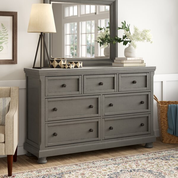 Calila Triple 7 Drawer Dresser with Mirror by Birch Lane™ Heritage