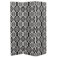 Darcy 72 x 49 3 Panel Room Divider by House of Hampton