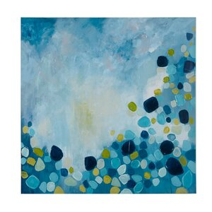 'Cool Blue Bounce' Painting Print on Wrapped Canvas by INK+IVY