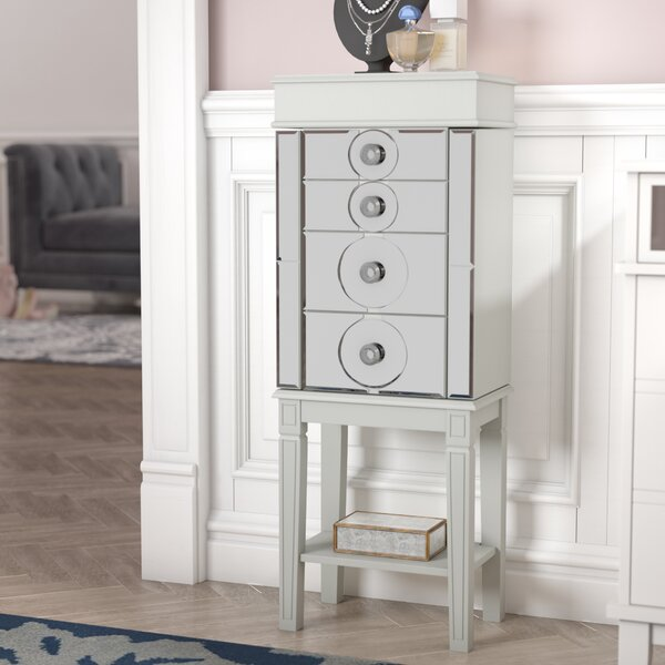 Xenia  Jewelry Armoire with Mirror by Willa Arlo Interiors