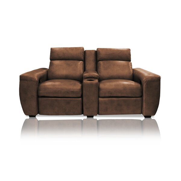 Review Signature Series Paris Leather Home Theater Row Seating (Row Of 2)