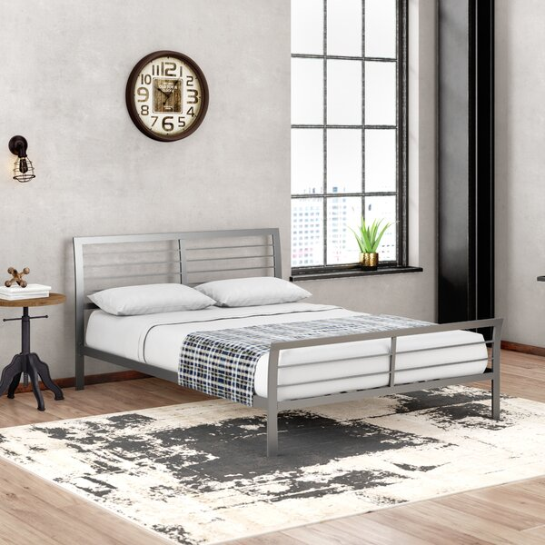 Chayne Transitional Style Metal Queen Platform Bed by Trent Austin Design