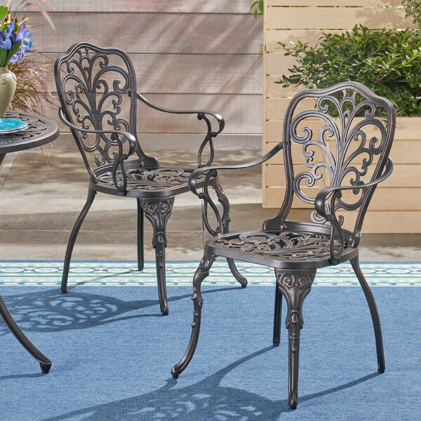 Roderick Patio Dining Chair (Set of 2) by Fleur De Lis Living