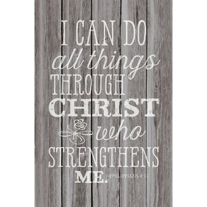 'I Can Do All Things…' Textual Art Plaque by Winston Porter