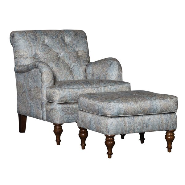 Culbreth Armchair wirh Ottoman by Darby Home Co