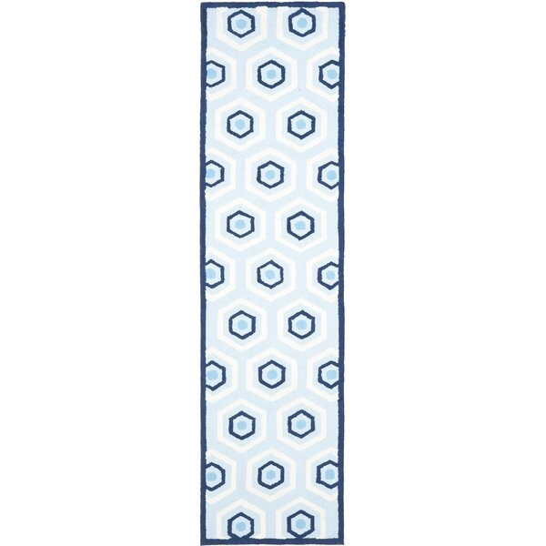 Claro Blue/Ivory Area Rug by Harriet Bee