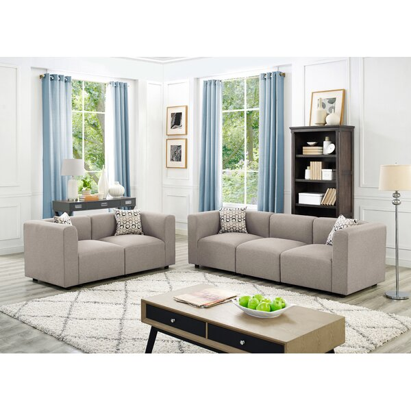 Karol Linen-Like 2 Piece Modular Living Room Sofa Set by Ivy Bronx