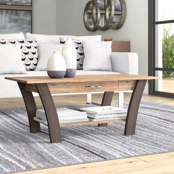Chesterle Coffee Table with Drawer by Ebern Designs