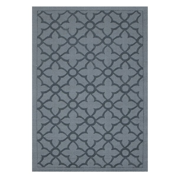 Flamenco Hana Hand-Loomed Dark Gray Area Rug by DecorShore
