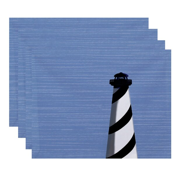 Hancock Light House Geometric Print Placemat (Set of 4) by Breakwater Bay