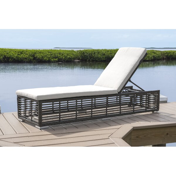 Reclining Chaise Lounge with Cushion by Panama Jack Outdoor Panama Jack Outdoor