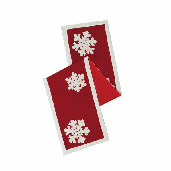 Felt Flakes Table Runner by The Holiday Aisle