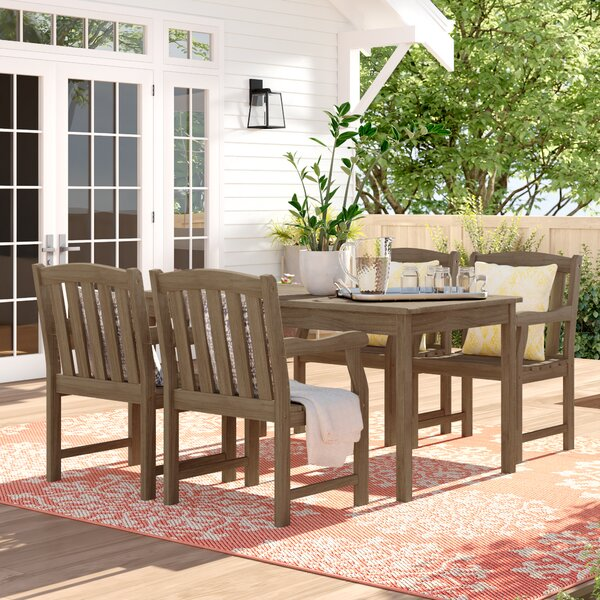 Zephyrine 5 Piece Dining Set by Beachcrest Home