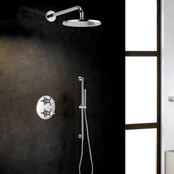 Rio Superior Thermostatic Round Rainfall Volume Control Complete Shower System With Rough-in Valve By FontanaShowers