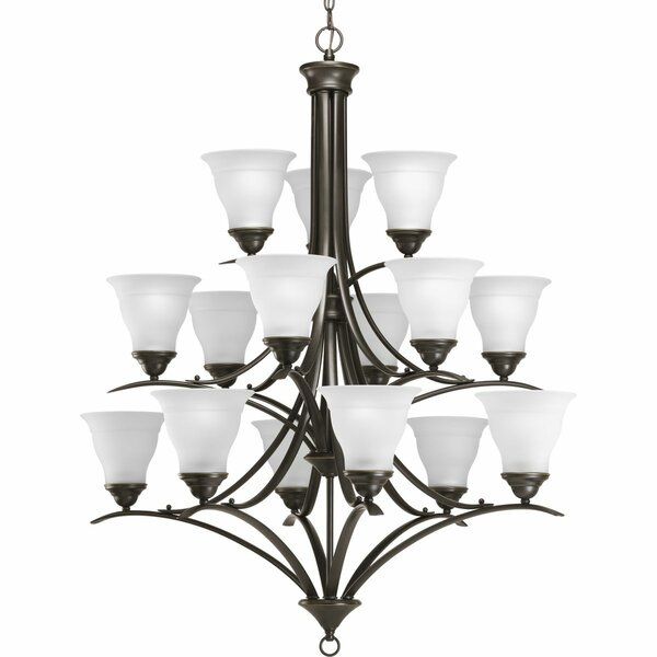 Wanette 15-Light Shaded Tiered Chandelier By Charlton Home