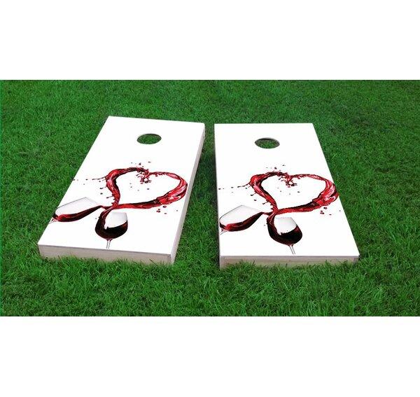 Wine Lover Cornhole Game Set by Custom Cornhole Boards