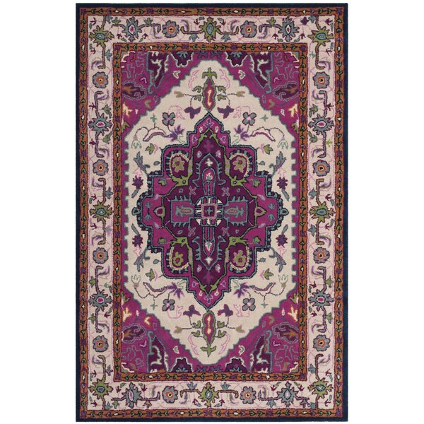 Blokzijl Hand-Tufted Wool Purple Area Rug by Bungalow Rose