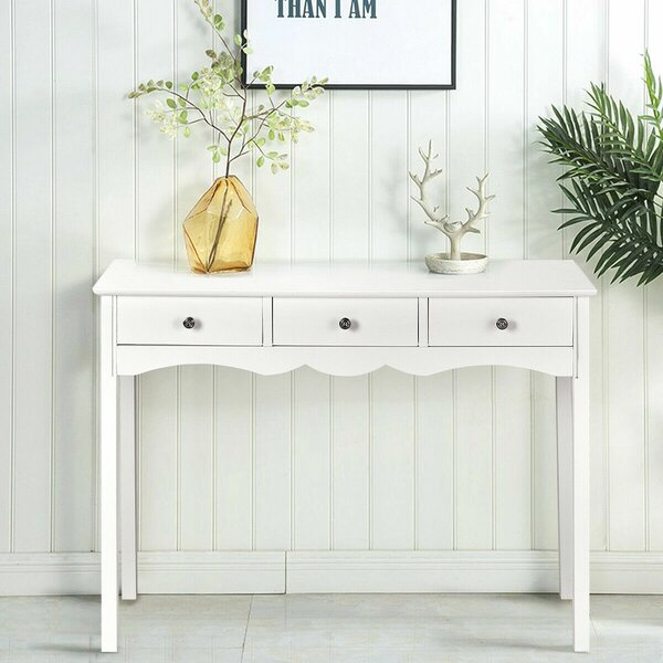 Gracie Oaks White Console Tables