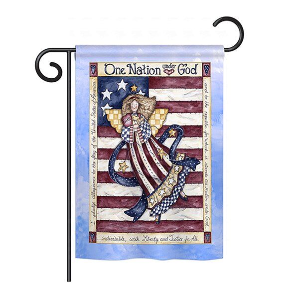 One Nation under God 2-Sided Vertical Flag by Breeze Decor