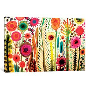 Printemps Painting Print on Wrapped Canvas by Bungalow Rose