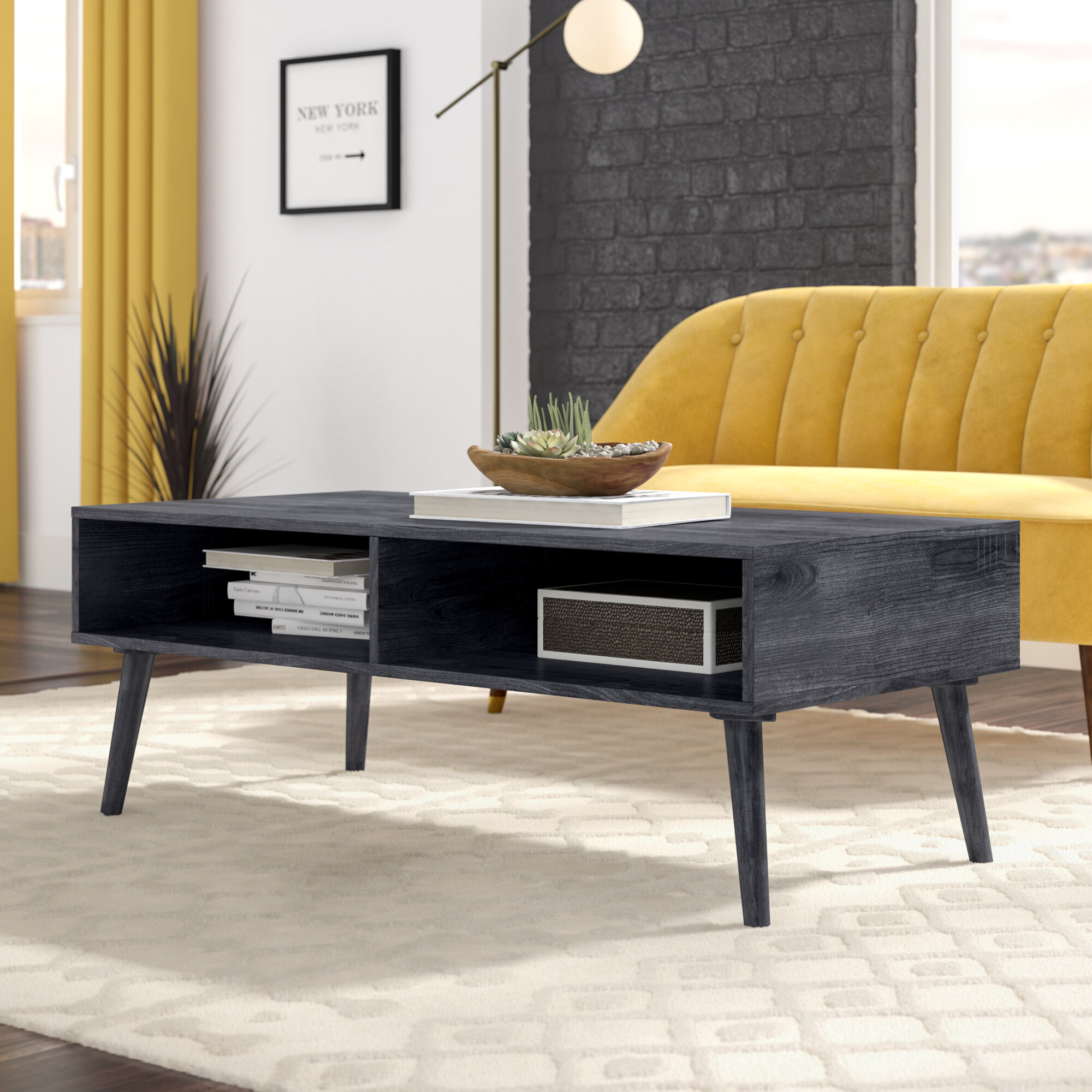 Wrought Studio Goetsch Mid Century Modern Coffee Table Wayfair
