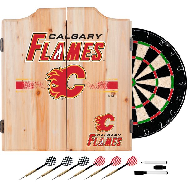 Nhl Dartboard And Cabinet Set By Trademark Global.