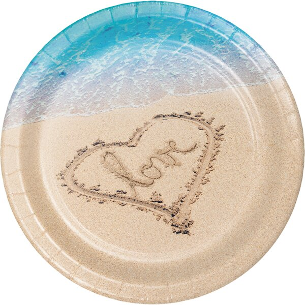 Beach Love Banquet Paper Dinner Plate (Set of 24) by Creative Converting