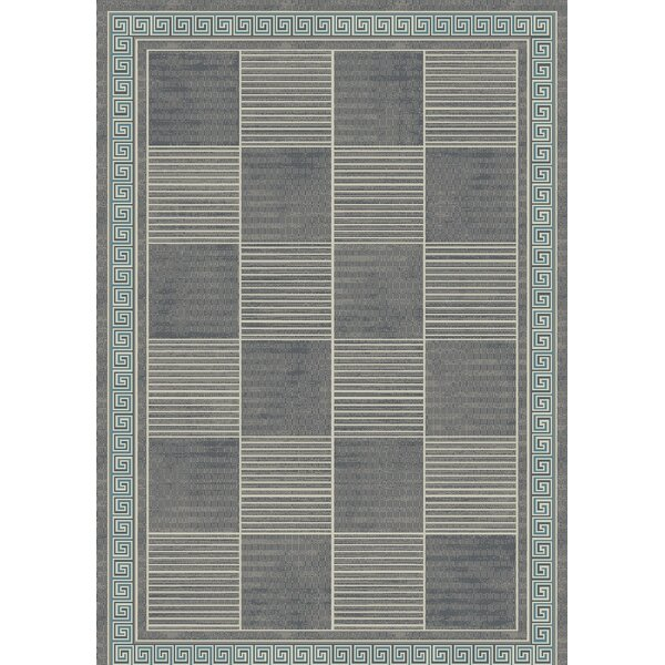 Boykins Courtyard Gray Area Rug by Highland Dunes