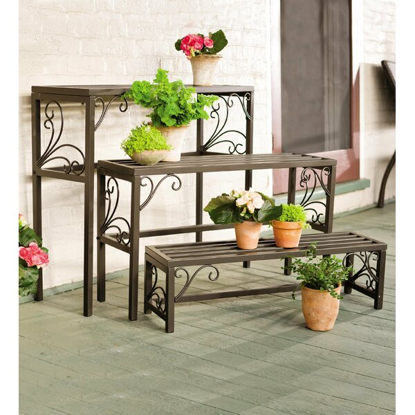 Rectangle 3 Piece Plant Stand Set by Plow & Hearth
