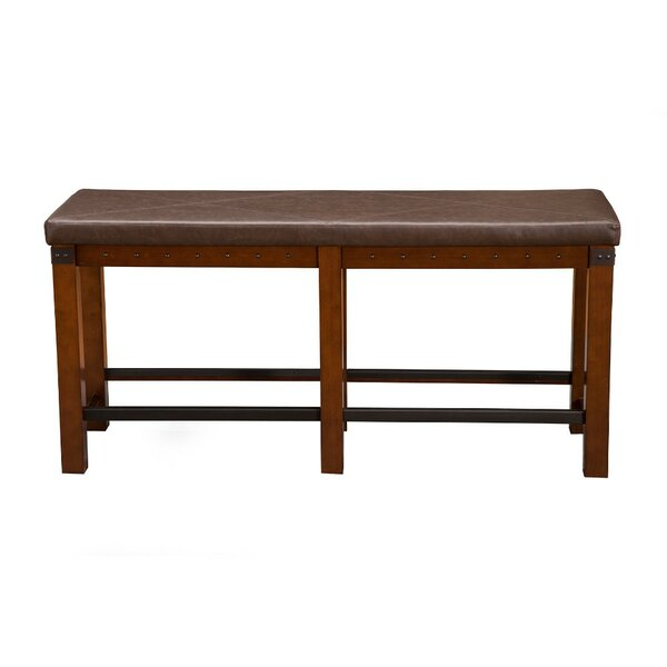 Yamamoto Counter Height Wood Dining Bench by Millwood Pines