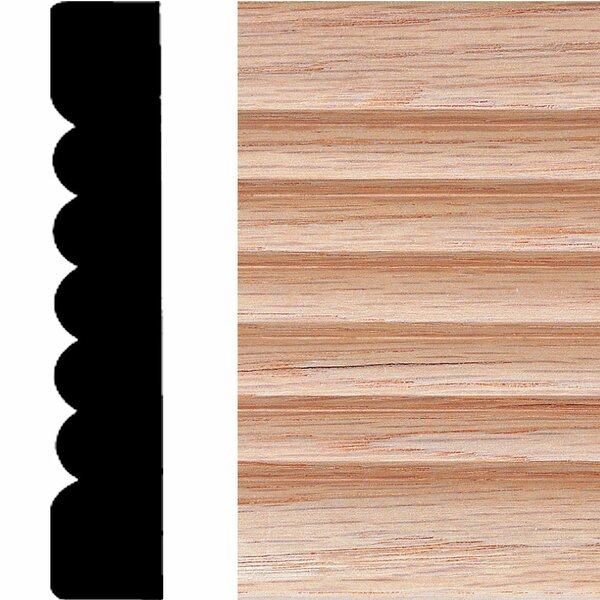 3/4 in. x 4 in. x 7 ft. Oak Ribbed Fluted Casing Moulding by Manor House
