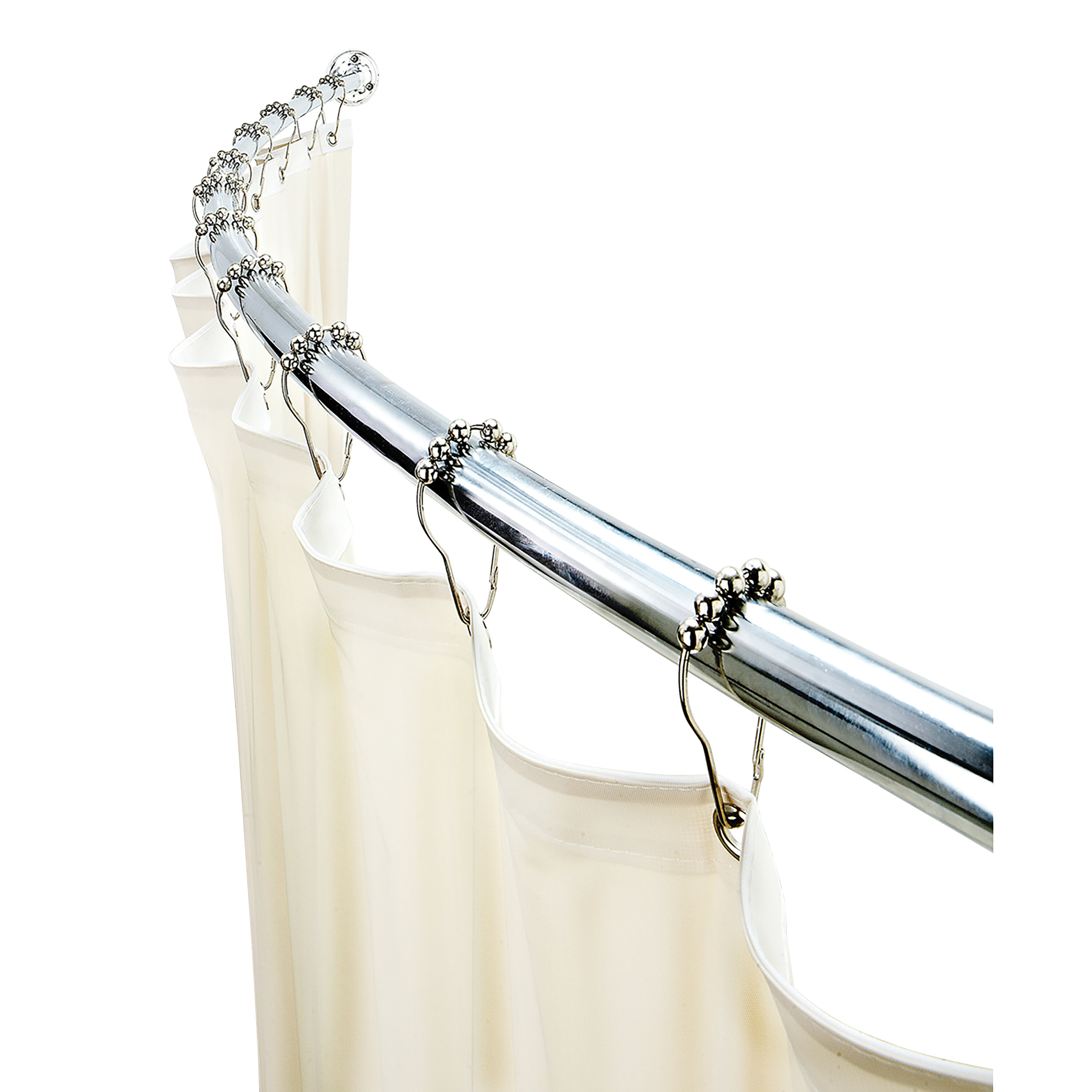 72 Adjustable Curved Fixed Shower Curtain Rod
