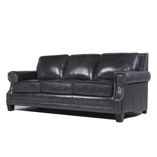 Riley Leather Sofa by Trent Austin Design