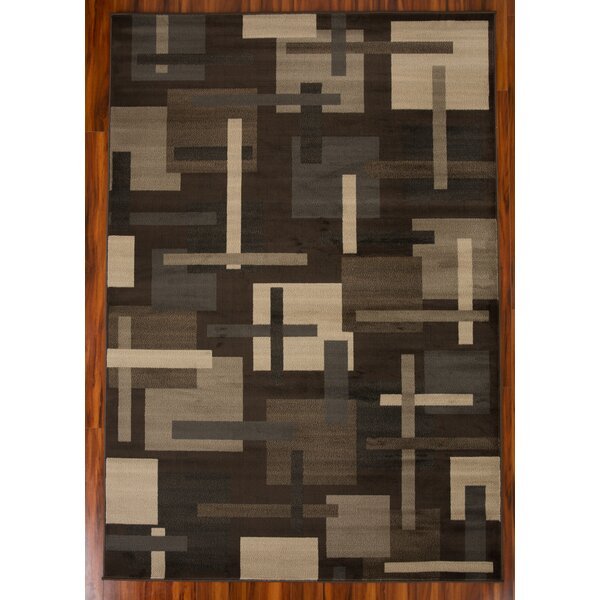 Sealrock Geometric Pattern 1609 Brown/Beige Area Rug by Orren Ellis