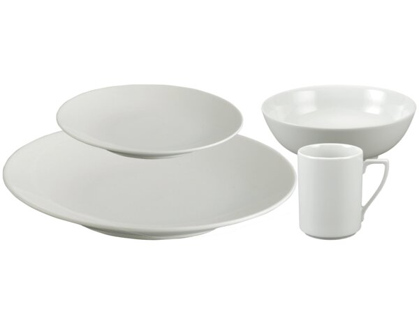 Lyon 16 Piece Dinnerware Set, Service for 4 by Alcott Hill