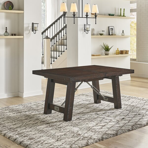 Inklen Counter Height Butterfly Leaf Rubberwood Solid Wood Dining Table By Gracie Oaks