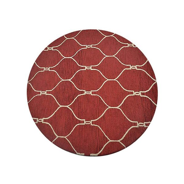 Creamer Geometric Hand-Tufted Wool Red/Beige Area Rug by Darby Home Co
