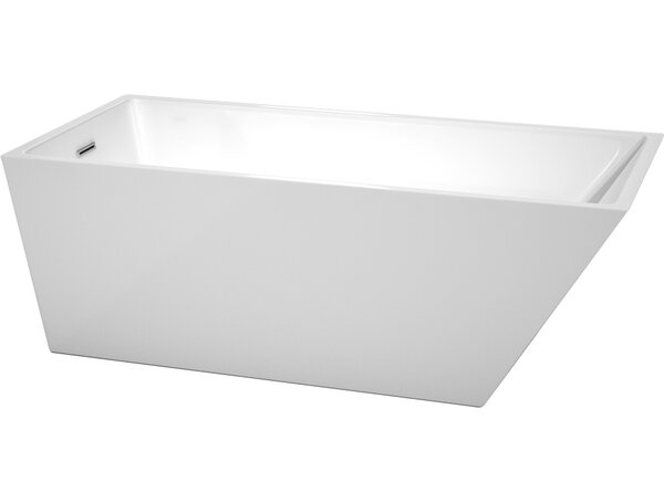 Hannah 67 x 31.5 Soaking Bathtub by Wyndham Collection